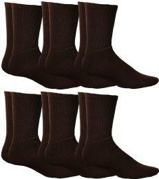 6 of Yacht & Smith Women's Sports Crew Socks, Size 9-11, Brown