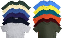 12 of Mens Plus Size Cotton Crew Neck Short Sleeve T Shirt, Assorted Colors, Size 7XL