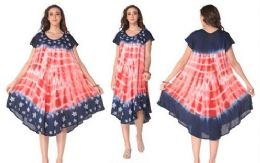 12 of Rayon American Flag Dress
