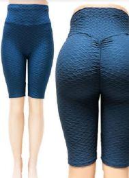 24 of Tik tok Big Butts Capris Leggings in Blue