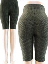 24 of Tik Tok Big Butts Capris Legging in Olive Green