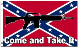 24 of Confederate Flag-Come and Take It