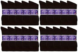 60 of Yacht & Smith Men's King Size Loose Fit Non-Binding Cotton Diabetic Crew Socks (Brown King Size 13-16)