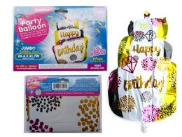 144 of Happy Birthday Cake Giant Foil Balloon
