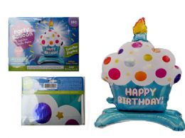 144 of Happy Birthday Cupcake Balloon W/ Stand