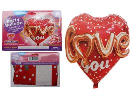 144 of Love You Foil Balloon Pop-Up