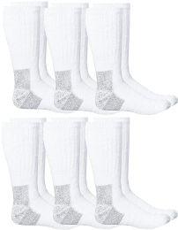 6 of Yacht & Smith Men's Heavy Duty Steel Toe Work Socks, White, Sock Size 10-13