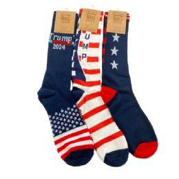 48 of Trump 2024 Crew Socks 3 Styles 10-13