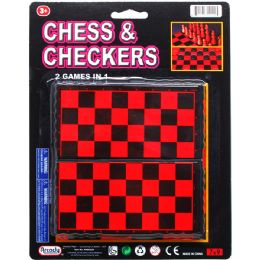 72 of 2 IN 1 CHESS & CHECKERS GAME SET
