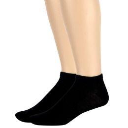 120 of Men's Cotton Ankle Socks Solid Colors- Black