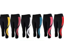 12 of Womens Stretch Leggings In Assorted Colors