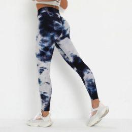 12 of Lady Textured Tie Dye Leggings In Assorted Colors
