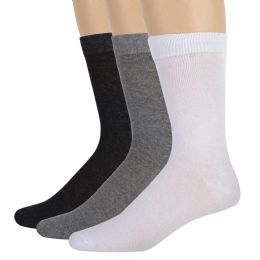 100 of Men's Cotton Crew Socks- Assorted 3 Color