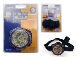 48 of Led Headlight 7 Head W/Black Strap;