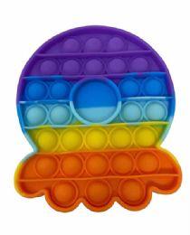 24 of Octopus Push Pop Bubble Toys