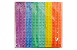 4 of Bubble Pop Toy Jumbo Rainbow Square