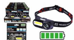8 of Rechargeable Cob LED Head Lamp