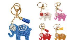 72 of Rhinestone Keychain Elephant