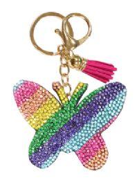 72 of Rhinestone Keychain Rainbow Butterfly
