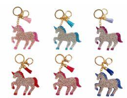 72 of Rhinestone Keychain Unicorn