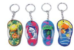 72 of Rubber Flip Flop Keychain