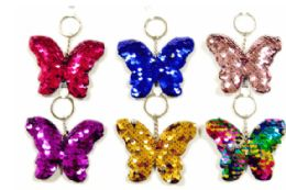72 of Sequin Keychain Butterfly