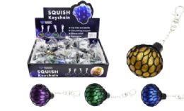 96 of Squish Ball Keychain Glitter