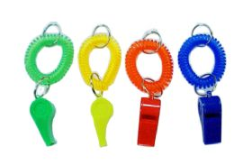 72 of Wristband Keychain With Whistle