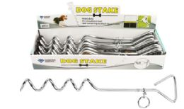 24 of Dog Tie Out Chrome Steak 16 inch