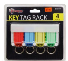 24 of Key Tag Rack 4 Piece