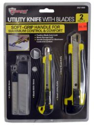 24 of Snap Blade Knives With Grip And Blades 2 Piece