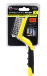 48 of Stainless Steel Brush With Rubber Grip 7 Inch