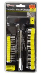24 of T Handle Screwdriver And Bit Socket Set 2 Piece