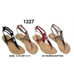 36 of Ladies Sandals With Rhine Stone Design
