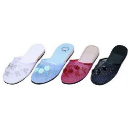48 of Ladies Chinese Slipper48 Pairs Assorted Colors 5-10