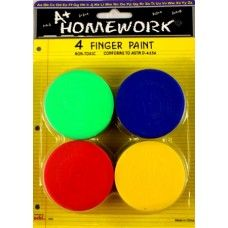48 of Finger Paints - Assorted Colors - 4 Pack