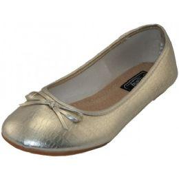 18 of Women's Ballet Flats Metallic Gold Only