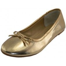 18 of Women's Ballet Flats Gold Color Only