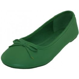 18 of Women's Ballet Flats Green Color Only