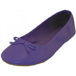 18 of Women's Ballet Flats Purple Color Only