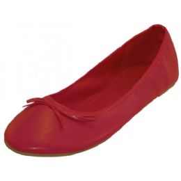 18 of Wholesale Women's Ballet Flats Red Color Only