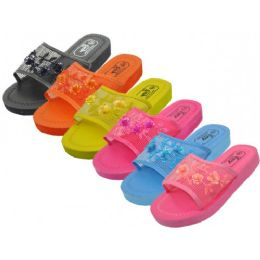 36 of Open Toe Chinese Mesh Slippers, Size Range 6-11 Assorted