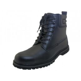 "12 of Men's ""himalayans"" 6.5 Inches *steel Toe Insulated Leather Upper Work Boots ( *black Color )"