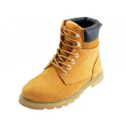 "12 of Men's ""himalayans"" 6 Inches Nubuck Insulated Leather Upper Work Boots *steel Toe ( *tan Color )"