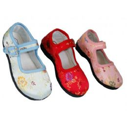 36 of Girl Brocade Maryjane Colors: Blue, Pink & Red (assorted)