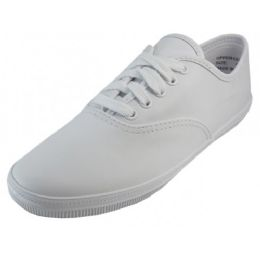 18 of Women's Leather Upper Shoes With Shoelace. ( *white Color )
