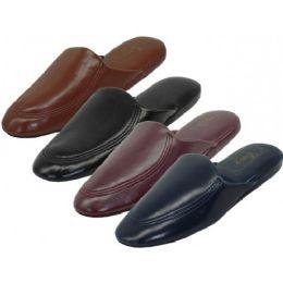 48 of Men's Soft Vinyl Upper Close Toe Open Back House Slippers
