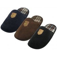 36 of Men's Cotton Corduroy With Embroidery Upper House Slippers