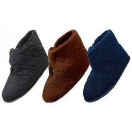 36 of Men's Corduroy Velcro Wrap Bedroom Boots
