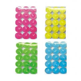 72 of 15pc Tealight Candle Assorted Colors Pvc